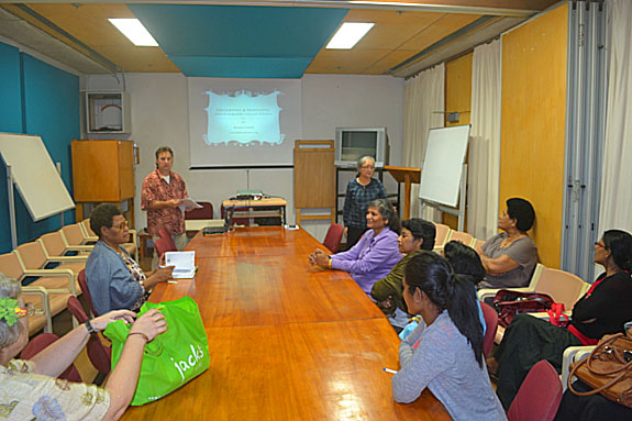The presentation for the Fiji Library Association.