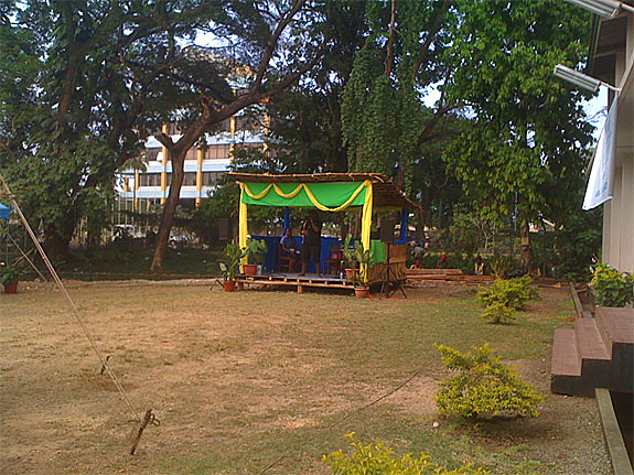 The small stage on the grounds of the National Archives Solomon Islands
