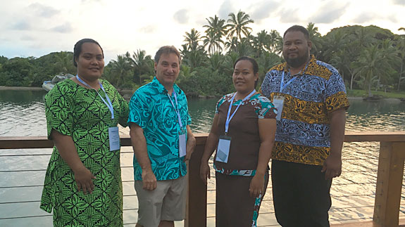Me with delegates from the Tuvalu National Archives