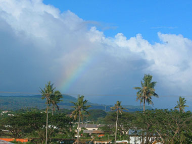 Rainbow over Apia