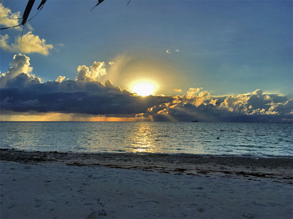 Sunset over Funafuti Lagoon